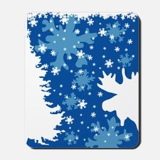 Christmas Moose Mousepad