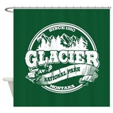 Glacier Old Circle Shower Curtain