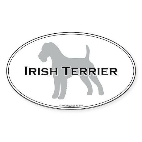Irish Terrier Oval Sticker