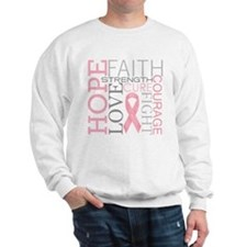 Cute Fight like a girl breast cancer Sweatshirt