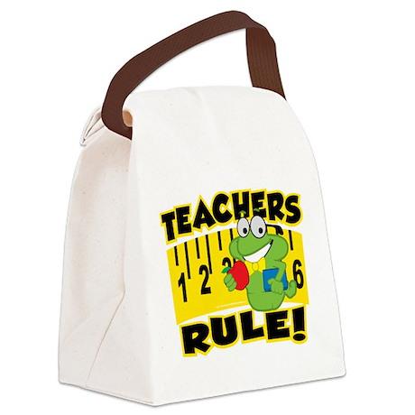 Teachers-Rule.png Canvas Lunch Bag