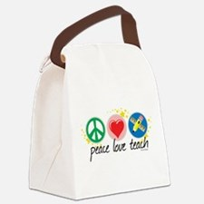Peace-Love-Teach.png Canvas Lunch Bag