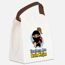 Teachers-Are-Brain-Ninjas.png Canvas Lunch Bag