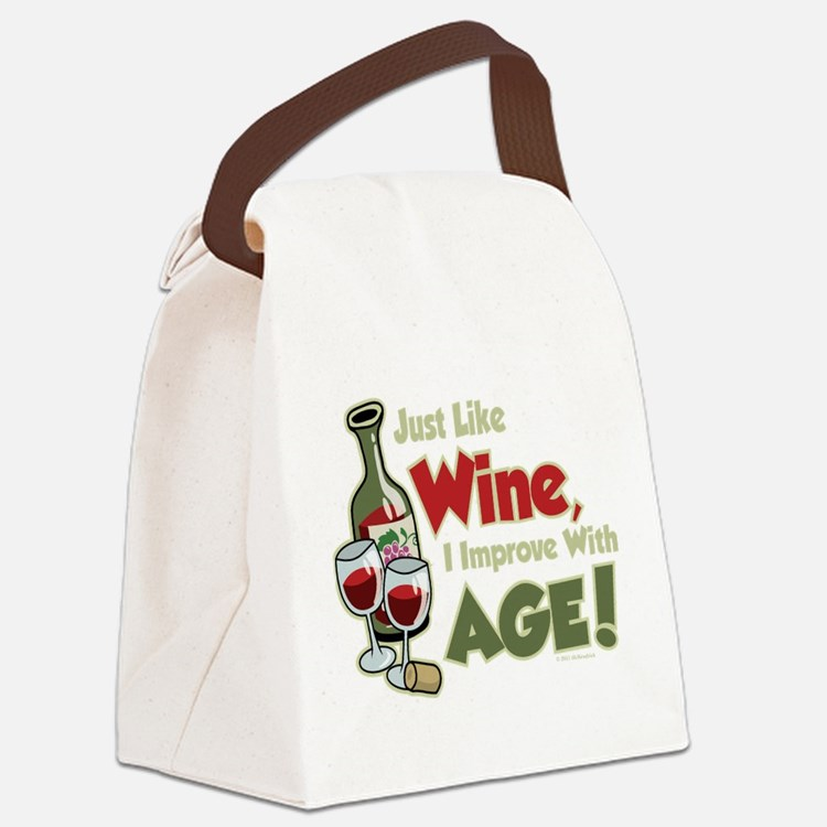 Wine-Improve-With-Age.png Canvas Lunch Bag