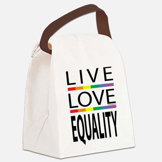 Live-Love-Equality.png Canvas Lunch Bag