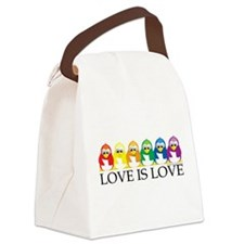 Love-Is-Love-Penguins.png Canvas Lunch Bag