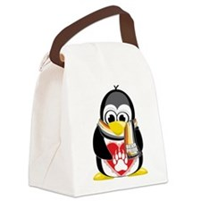 Bear-Pride-Penguin-Scarf.png Canvas Lunch Bag