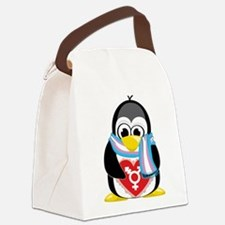Transgender-Penguin-Scarf.png Canvas Lunch Bag