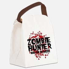 Zombie-Hunter.png Canvas Lunch Bag