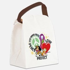 Stop-Animal-Abuse-PLP.png Canvas Lunch Bag