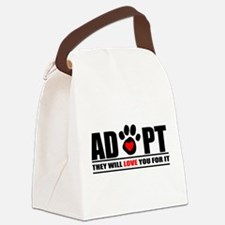 AdoptaPetWht.png Canvas Lunch Bag