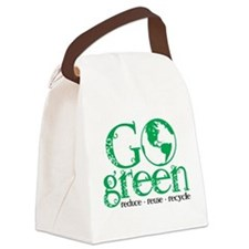 Go-Green.png Canvas Lunch Bag