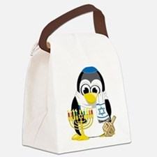 Hanukkah-Penguin-Scarf.png Canvas Lunch Bag