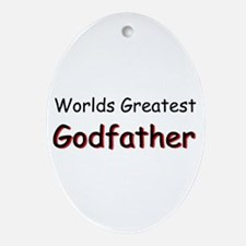 Greatest Godfather Ornament (Oval)