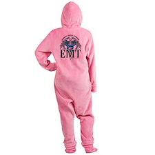 EMT-Caduceus-Blue.png Footed Pajamas