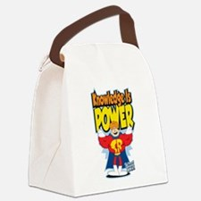 Knowledge-Is-Power.png Canvas Lunch Bag