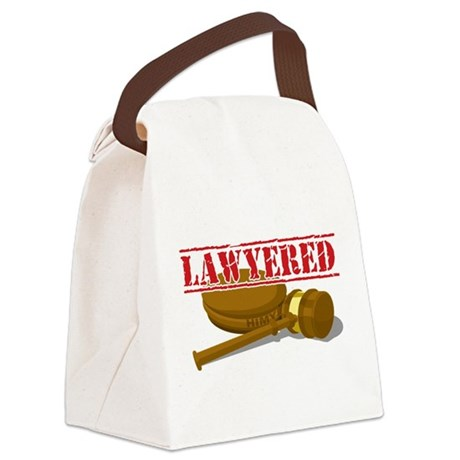 Lawyered.png Canvas Lunch Bag