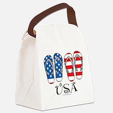 USA-Flip-Flops.png Canvas Lunch Bag