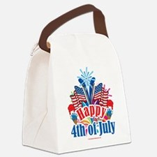 Happy-4th-of-July.png Canvas Lunch Bag