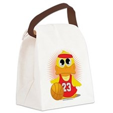 Basketball-Duck.png Canvas Lunch Bag