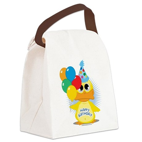 Birthday-Duck.png Canvas Lunch Bag
