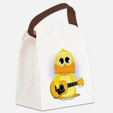 Guitar-Duck.png Canvas Lunch Bag
