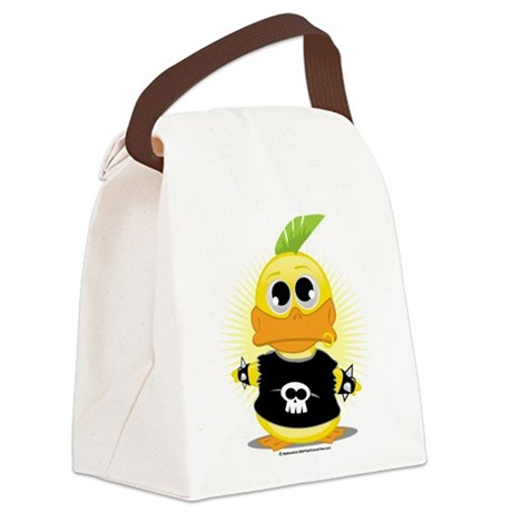 Punk-Duck.png Canvas Lunch Bag