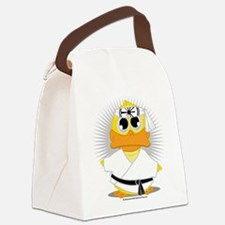 Karate-Duck.png Canvas Lunch Bag