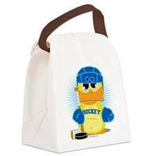 Hockey-Duck.png Canvas Lunch Bag