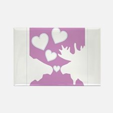 Moose Love Rectangle Magnet