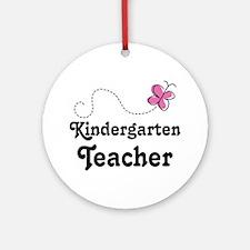 Kindergarten Teacher (pink) Ornament (Round)