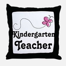 Kindergarten Teacher (pink) Throw Pillow