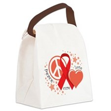 AIDS-Peace-Love-Cure.png Canvas Lunch Bag