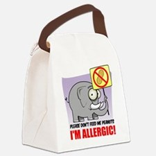 Peanut Allergy Elephant.png Canvas Lunch Bag