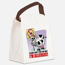 Milk Allergy Cow.png Canvas Lunch Bag