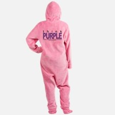 Alzheimers-THINK-Purple.png Footed Pajamas