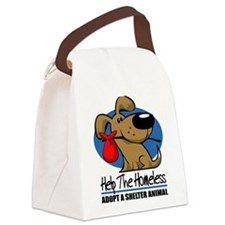Homeless Pet2wht.png Canvas Lunch Bag