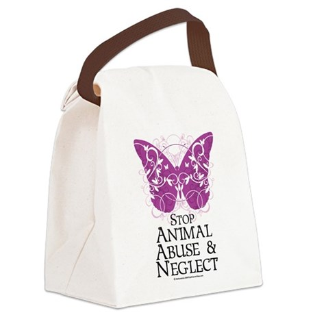 Animal-Abuse-Butterfly.png Canvas Lunch Bag