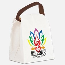 Autism-Lotus-Flower.png Canvas Lunch Bag