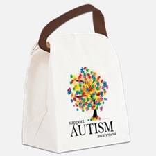 Autism-Tree.png Canvas Lunch Bag