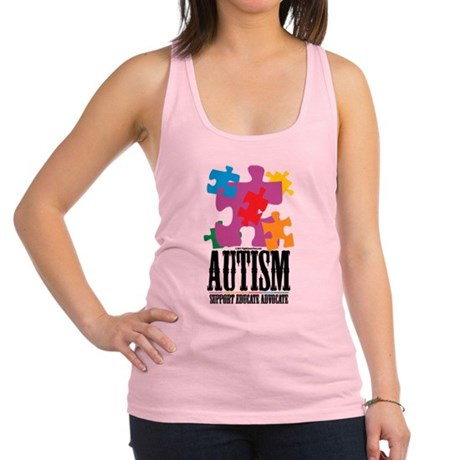 Autism-Western-2.png Racerback Tank Top
