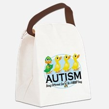 Autism-ugly-duckling-white.png Canvas Lunch Bag