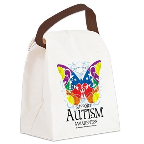 Autism-Butterfly.png Canvas Lunch Bag