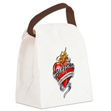 Autism-Tattoo-Heart.png Canvas Lunch Bag