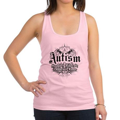 Autism-Tribal-2WHT.png Racerback Tank Top