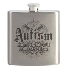 Autism-Tribal-2WHT.png Flask