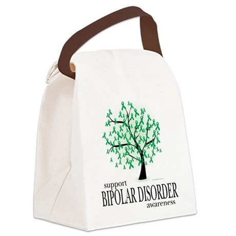 Bipolar-Disorder-Tree.png Canvas Lunch Bag