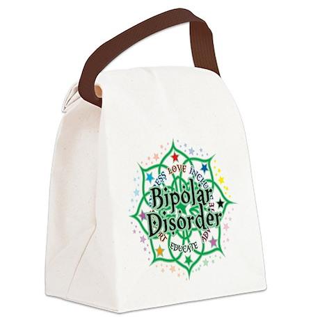 Bipolar-Disorder-Lotus.png Canvas Lunch Bag