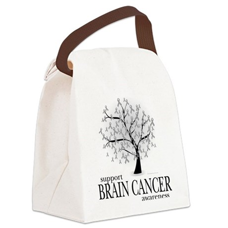 Brain-Cancer-Tree.png Canvas Lunch Bag