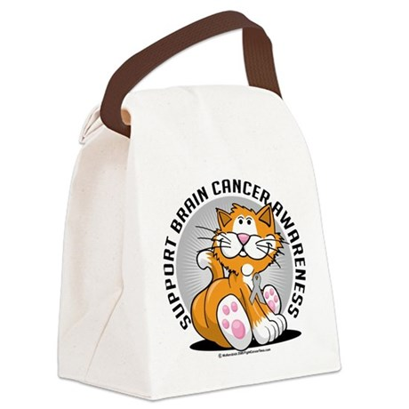 Brain-Cancer-Cat.png Canvas Lunch Bag